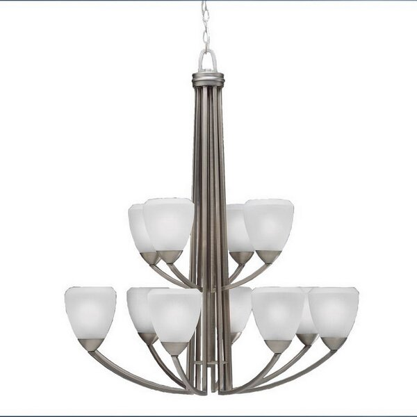 Cherie 12-Light Shaded Tiered Chandelier By Charlton Home