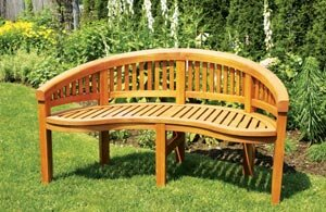 Monet Wooden Garden Bench by ACHLA