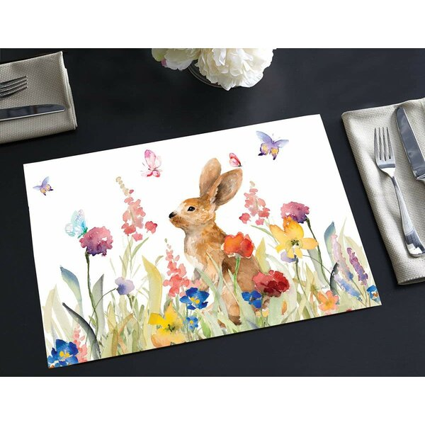 Rosewood Disposable Paper Wildflower Bunny 18 Placemat (Set of 24) by Winston Porter