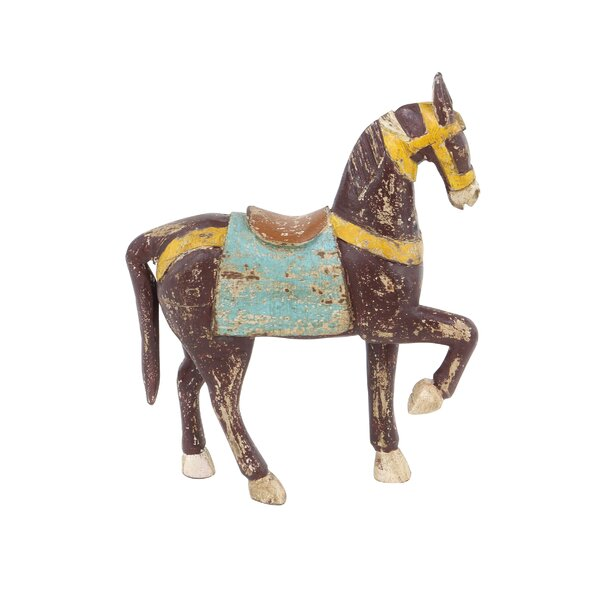 Melanson Traditional Horse Wood Figurine by Charlton Home