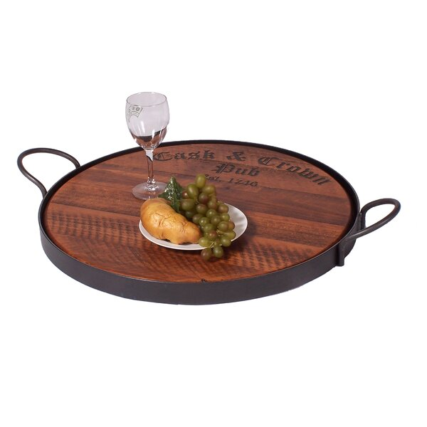 Cask and Crown Serving Tray by 2 Day Designs, Inc