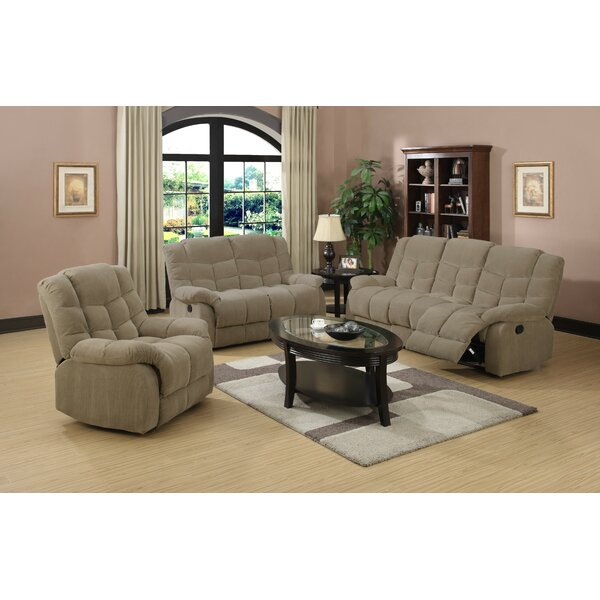 Heaven on Reclining  Earth 3 Piece Living Room by Sunset Trading