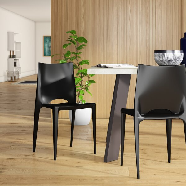 Ruzicka Modern Crescent Stackable Dining Chair by Orren Ellis