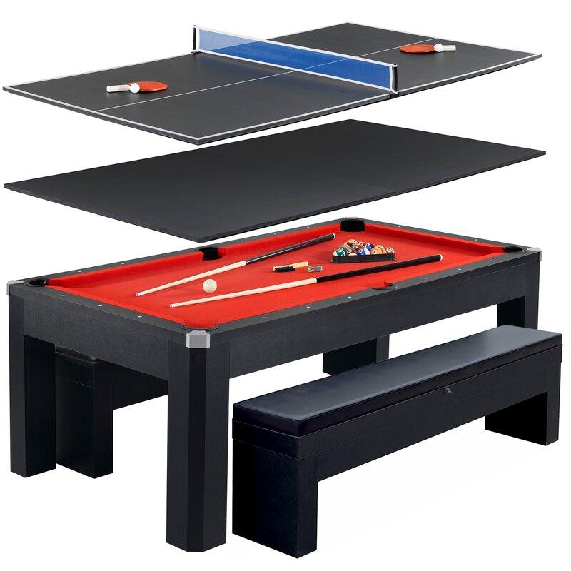 Park Avenue 10 Piece 7u0027 Pool Table Combo Set