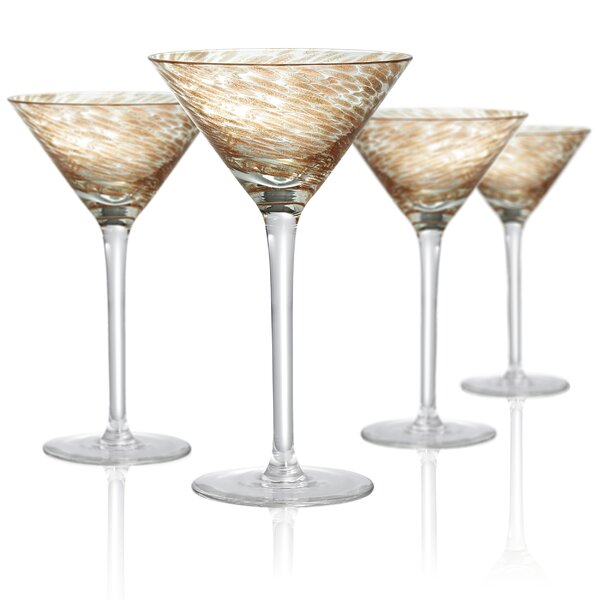 Dacia 8 oz. Martini Glass (Set of 4) by Beachcrest Home