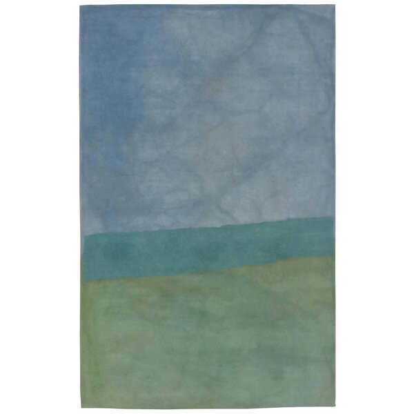 Harner Hand-Tufted Wool Blue/Green Area Rug by Red Barrel Studio