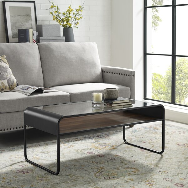 Loughman Sled Coffee Table With Storage By Ivy Bronx