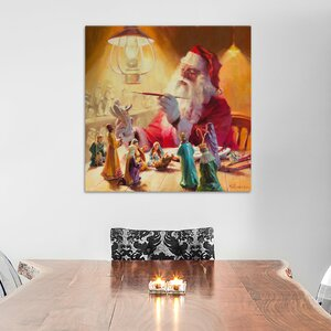Santa More Than Toys Painting Print on Wrapped Canvas