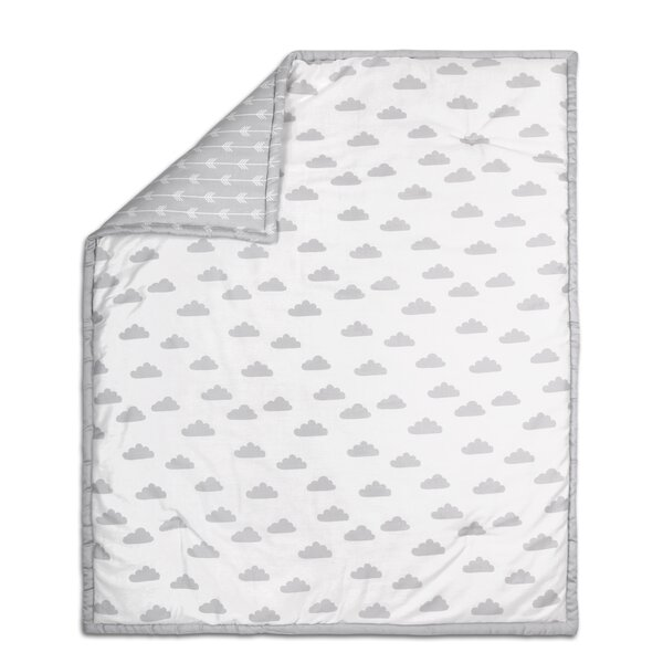 Cloud Print Cotton Quilt by The Peanut Shell