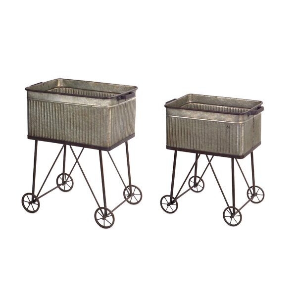 Turco Wash Tub 2 Piece Planter Box Set by Ophelia & Co.