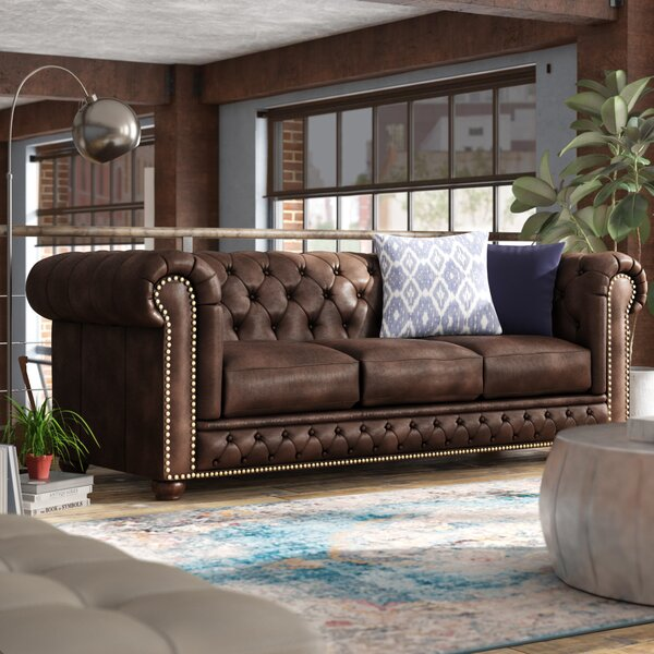 Stay On Trend This Worcester Leather Chesterfield Sofa by Trent Austin Design by Trent Austin Design