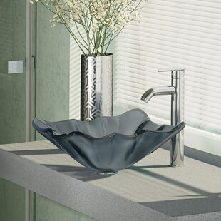 Big Save Glass Specialty Vessel Bathroom Sink with Faucet ByRené By Elkay