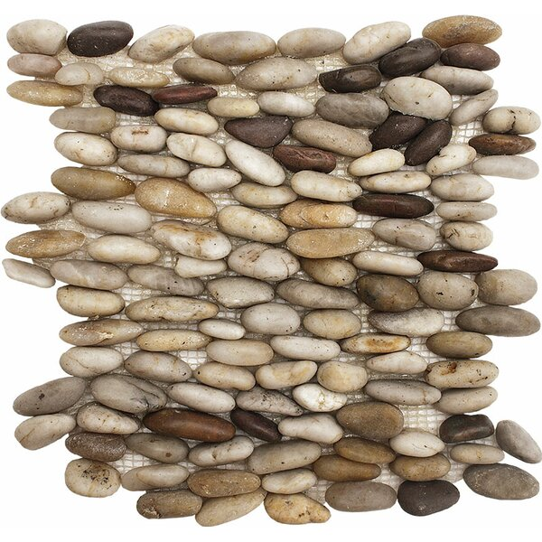 Standing Stone Pebble Tile in Wine by Parvatile