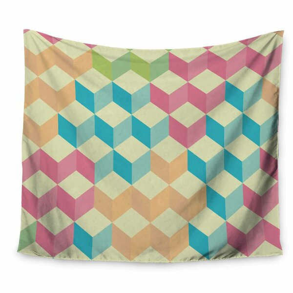 Tobe Fonseca SugarCubes Geometric Pattern Tapestry and Wall Hanging by East Urban Home