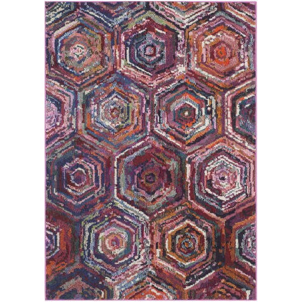 Chana Pink/Purple Area Rug by Bungalow Rose