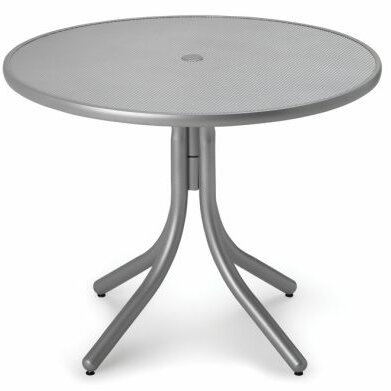 Embossed Aluminum 36 Round Dining Table by Telescope Casual