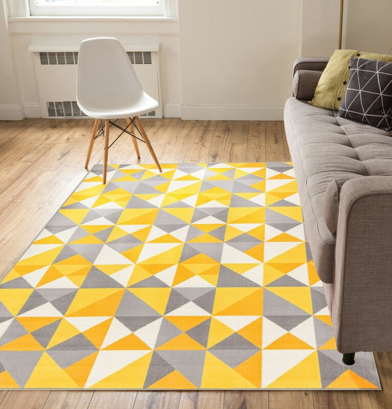 Well Woven Vector Yellow Indoor/Outdoor Area Rug & Reviews | Wayfair