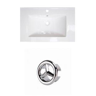 Deals Ceramic 25 Single Bathroom Vanity Top ByRoyal Purple Bath Kitchen