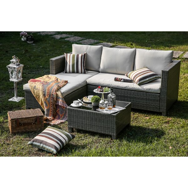 3 Piece Sectional Set with Cushions by Bayou Breeze