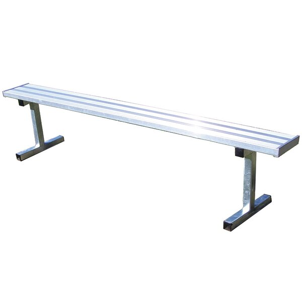 7.5′ Permanent Aluminum Players Bench by Jaypro Sports