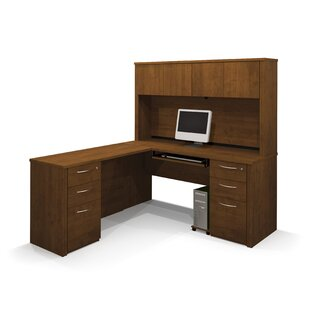 Karyn Reversible L-Shape Executive Desk with Hutch