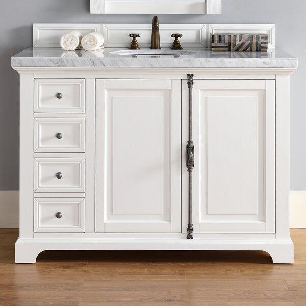 Ogallala 48 Single Cottage White Wood Base Bathroom Vanity Set by Greyleigh
