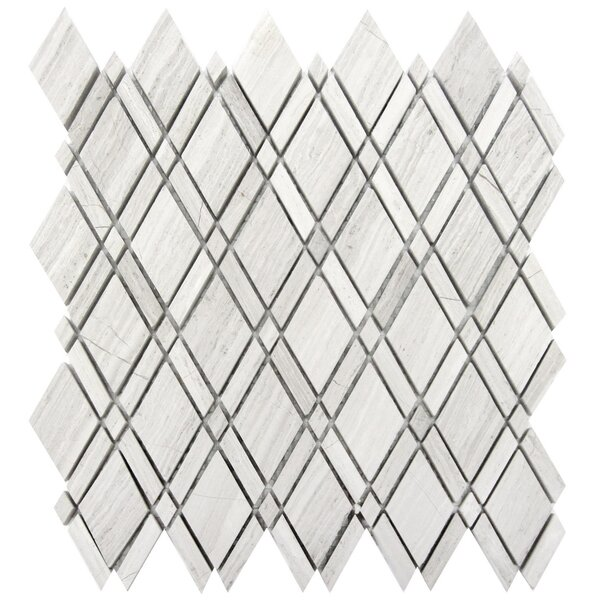 Lattice 1 x 2 Wood Mosaic Tile in Gray by Luxsurface