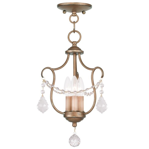 Bayfront 3-Light Chandelier by Astoria Grand