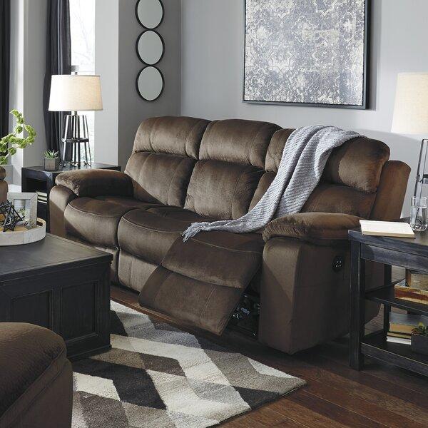 Bayat Power Adjustable Headrest Reclining Sofa by Loon Peak