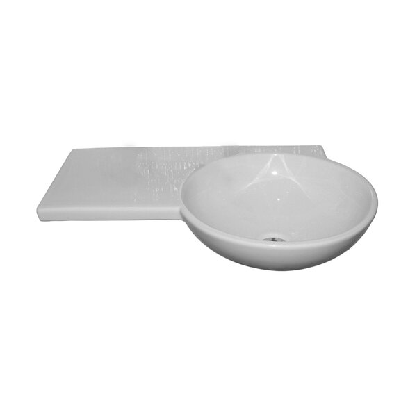 White Oval Wall Mount Bathroom Sink