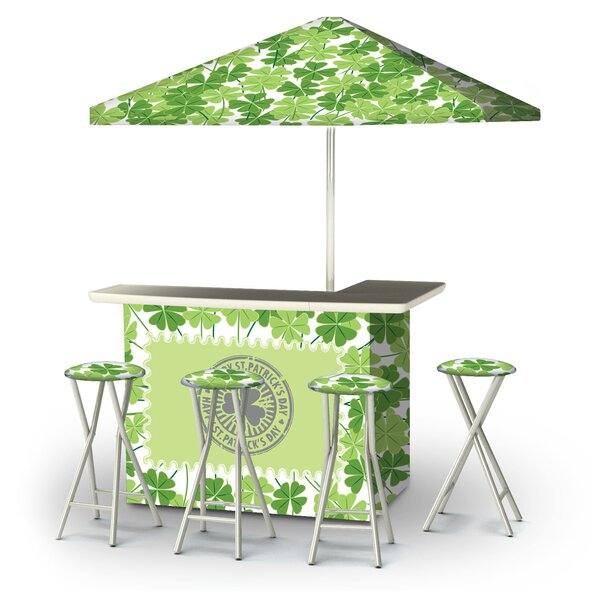 Aldham St Patricks Day Four Leaf Clovers 6-Piece Bar Set by East Urban Home