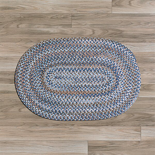 Oak Harbour Laguna Braided Wool Blue/Brown Area Rug by Colonial Mills