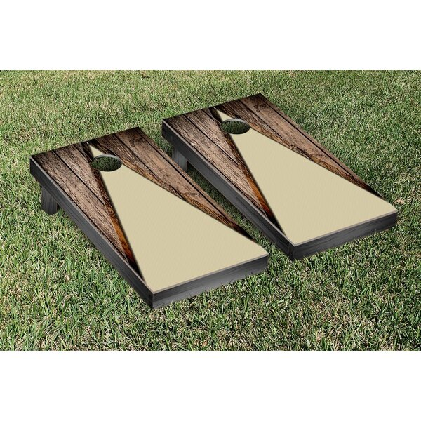 Wood Look Themed Cornhole Game Set by Victory Tailgate