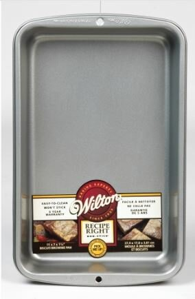 Non-Stick Rectangle Biscuit/Brownie Pan by Wilton