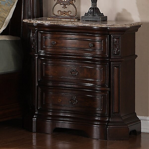 Hendricks 3 Drawer Nightstand by Astoria Grand