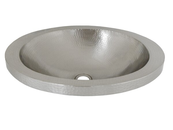 Hibiscus Metal Oval Drop-In Bathroom Sink by Native Trails, Inc.