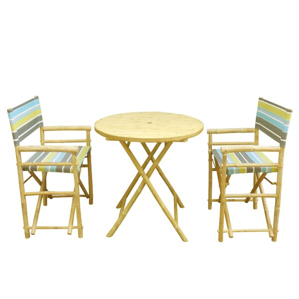 Bamboo 3 Piece Bistro Set by ZEW Inc