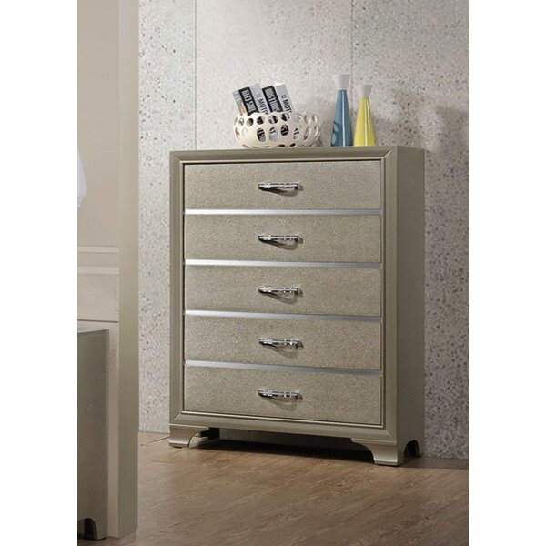 Sartin 5 Drawer Chest By House Of Hampton by House of Hampton Great price