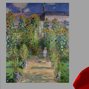 'The Artist's Garden at Vetheuil' by Claude Monet Print Poster by Charlton Home