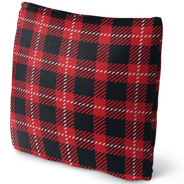 Christmas in Plaid Throw Pillow by KAVKA DESIGNS