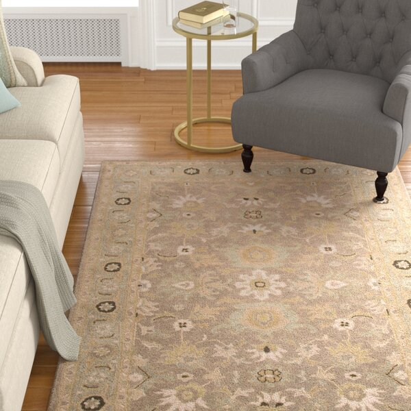 Trinningham Gray/Blue Rug by Charlton Home