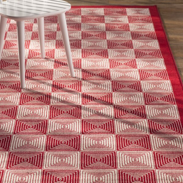 Charlotte Red Indoor/Outdoor Area Rug by Zipcode Design
