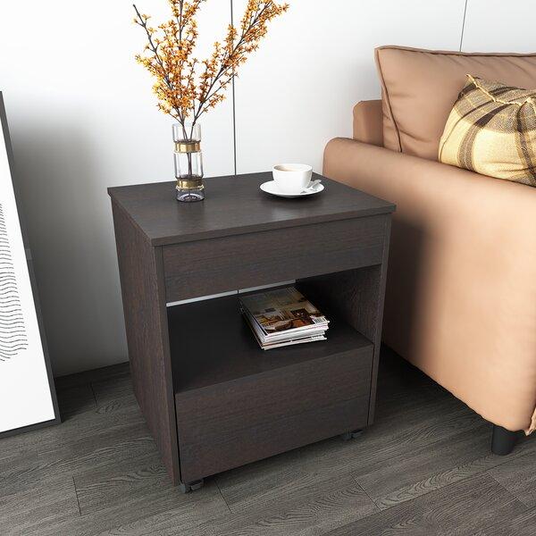Johnna Wheel End Table With Storage By Brayden Studio