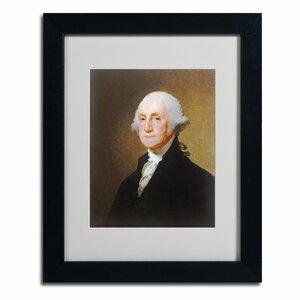 'George Washington 1821' by Gilbert Stuart Framed Painting Print by Trademark Fine Art
