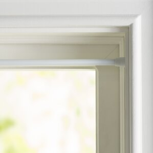Great Wayfair Basics Round Spring Tension Single Curtain Rod
