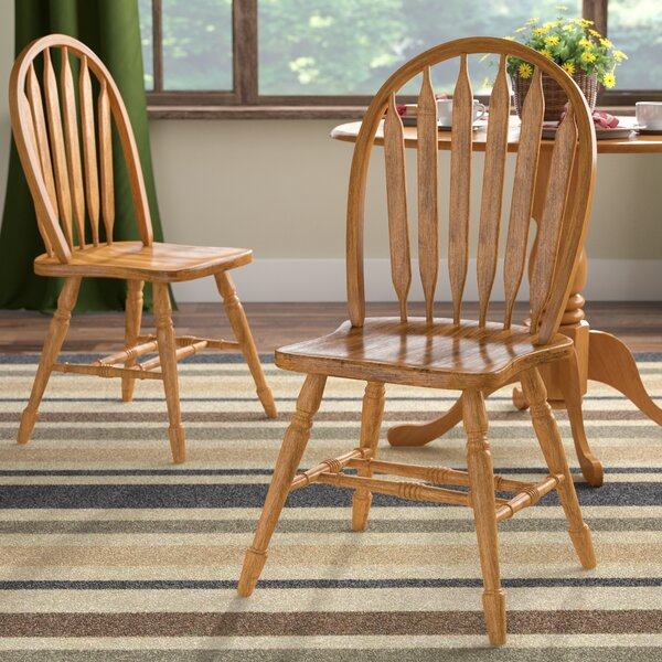 Lockwood Arrow Back Solid Wood Dining Chair (Set of 2) by Loon Peak
