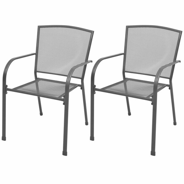 Delacroix Stacking Patio Dining Chair (Set of 2) by Winston Porter Winston Porter