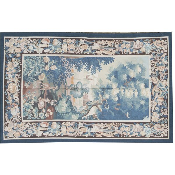 Hand-Knotted Blue/Brown Area Rug