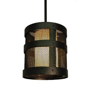 Affordable Price Portland 1-Light Outdoor Pendant By Steel Partners
