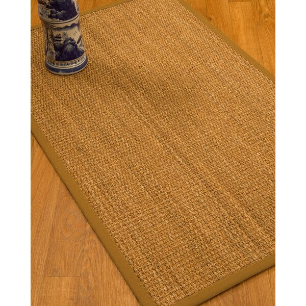 Kimberwood Border Hand-Woven Brown/Sienna Area Rug by Bay Isle Home